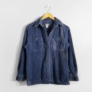 POINT ZERO Blue Corduroy Button Down Shirt